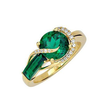 Emerald Ring-CR11882YEM
