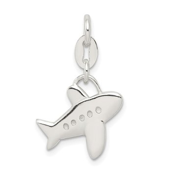 Sterling Silver Polished Airplane Charm