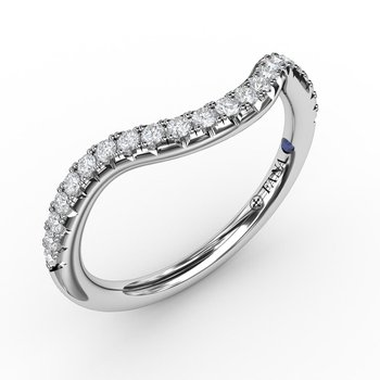 1/4ct French Pave Set Contour Diamond Band