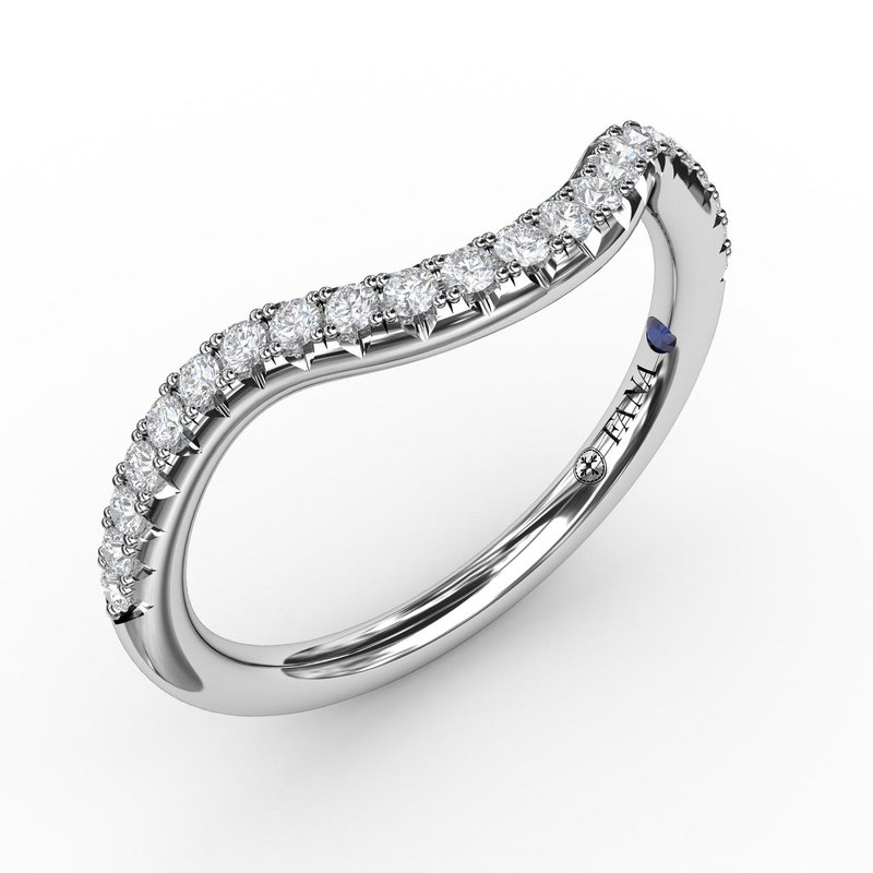 Fana 1/4ct French Pave Set Contour Diamond Band