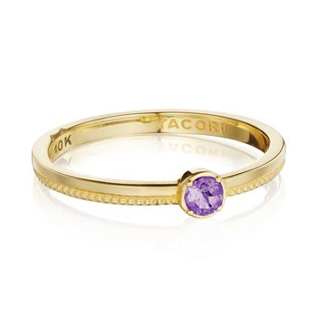 Gemstone Band Ring w/ Amethyst