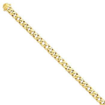 14k 8mm Solid Hand-Polished Curb Link Chain