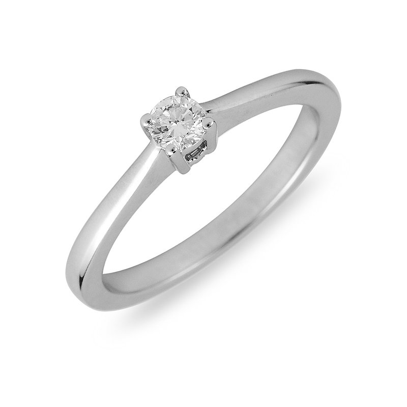 BB Impex 14K WG Diamond Solitaire Ring