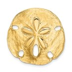 Arizona Diamond Center Collection 14k Polished Fits up to 8mm on Both Small Sand Dollar Slide