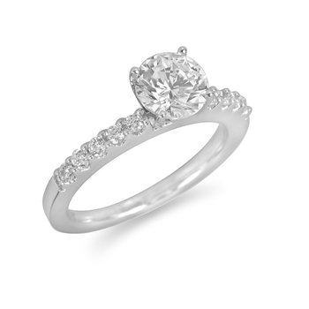 18K WG Diamond Engagement Ring for Mounting 18K WG Dia