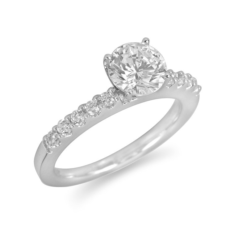 BB Impex 18K WG Diamond Engagement Ring for Mounting 18K WG Dia