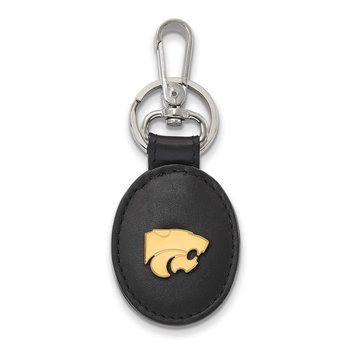 Gold-Plated Sterling Silver Kansas State University NCAA Key Chain