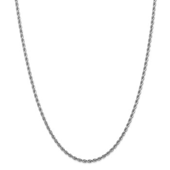 14k White Gold 2.75mm D/C Rope with Lobster Clasp Chain