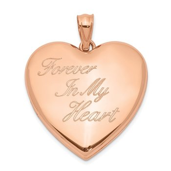Sterling Silver Rose-tone Forever In My Heart Ash Holder Heart Locket