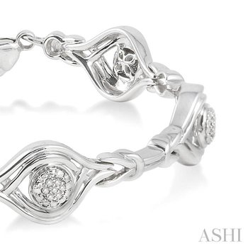 silver love knot diamond bracelet