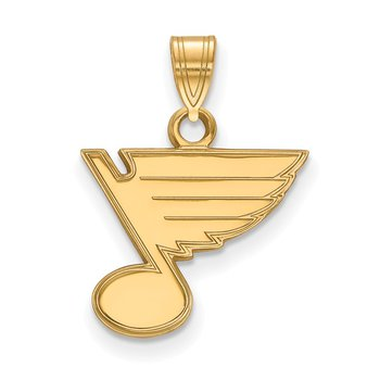 Gold St. Louis Blues NHL Pendant