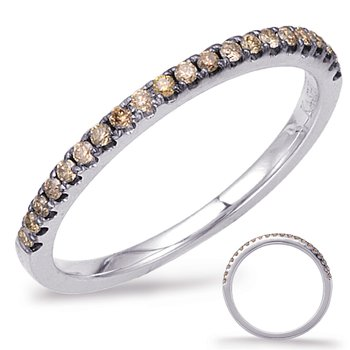 White Gold Champaign Diamond Band