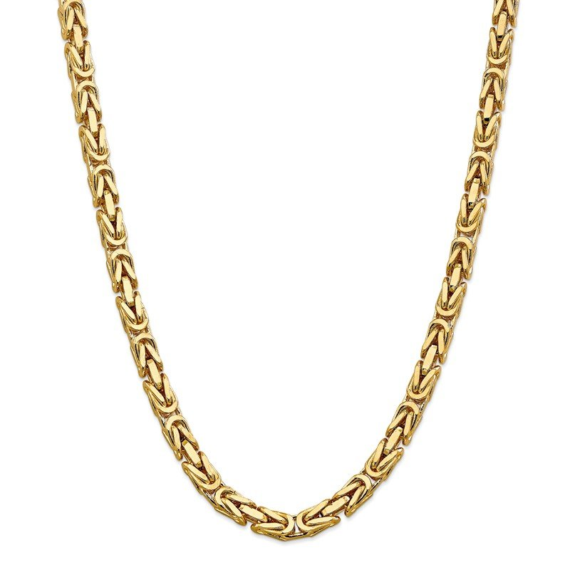 Quality Gold 14k 6.5mm Byzantine Chain
