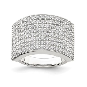 Sterling Silver Polished CZ Ring
