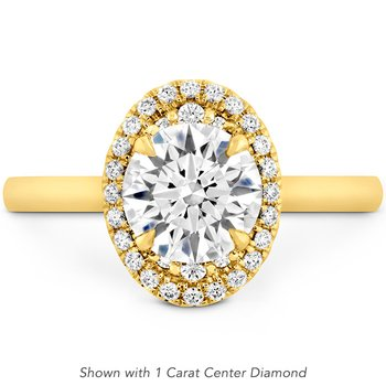 0.22 ctw. Juliette Oval Halo Engagement Ring