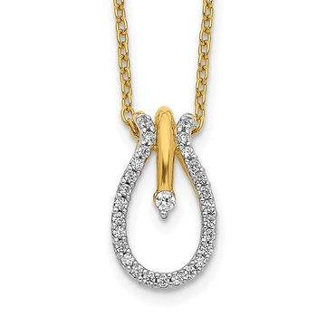 14k Diamond Teardrop 18 inch Necklace