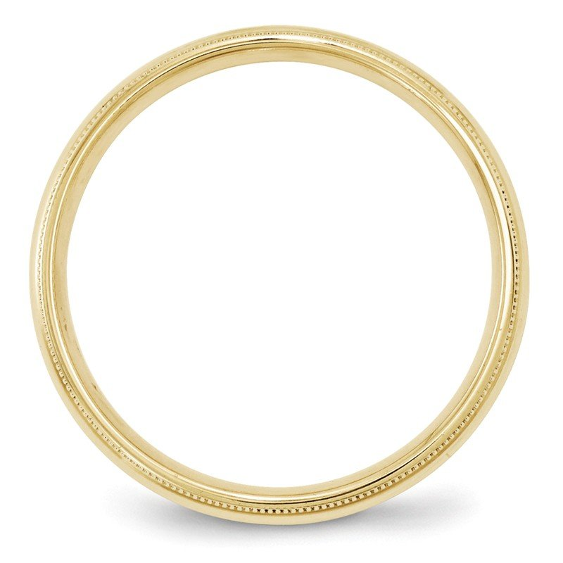 Quality Gold 10KY 4mm Milgrain Comfort Fit Band Size 10