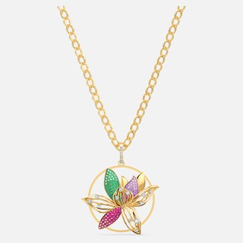 Togetherness Necklace, Multicolored, Gold-tone plated