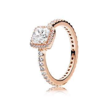 Timeless Elegance Ring, Pandora Rose™ Clear Cz