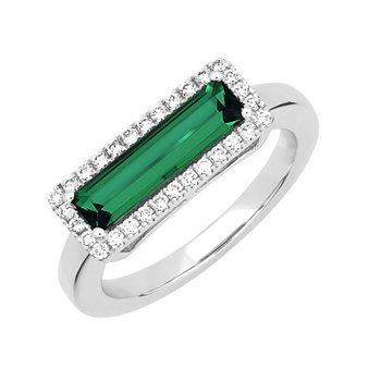 Emerald Ring-CR13127WEM