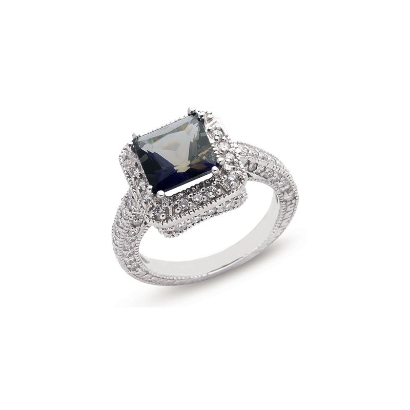 S. Kashi  & Sons Iolite & Diamond Ring