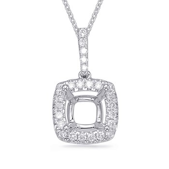 Diamond Pendant For 6.5mm Cushion