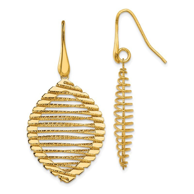 Leslie's Leslie's Sterling Silver Gold-plated Shepherd Hook Earrings