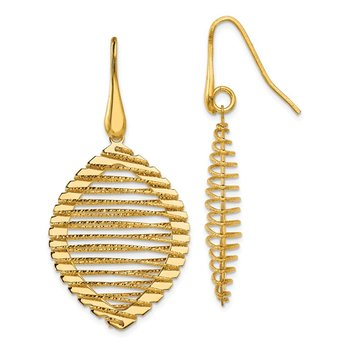 Leslie's Sterling Silver Gold-plated Shepherd Hook Earrings