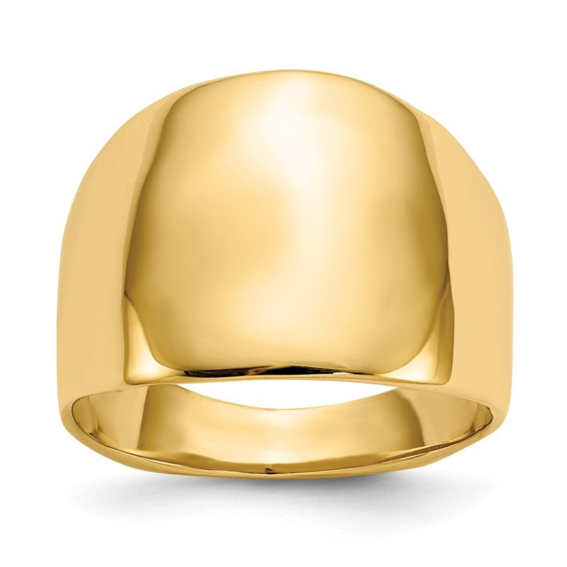 Quality Gold 14k Polished Dome Ring