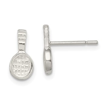 Sterling Silver Tennis Racquet Mini Earrings