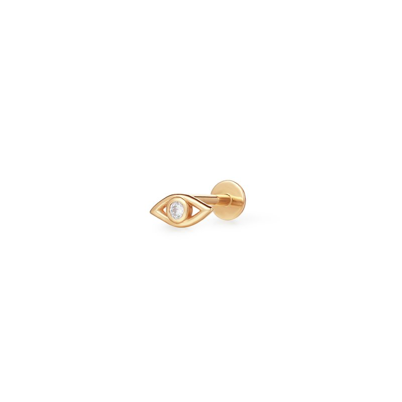 Aurelie Gi Charlotte | Diamond Evil Eye Single Piercing Earring