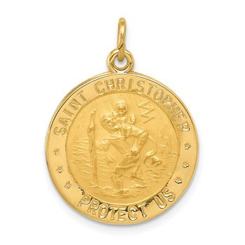 14k US Navy Saint Christopher Medal Pendant