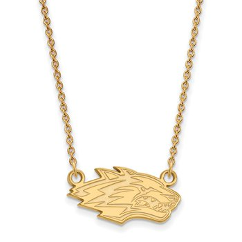 Gold University of New Mexico NCAA Necklace