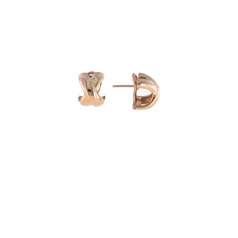 Roberto Coin  #26005 Of 18Kt Gold Small Crossover 'X' Earring