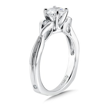 Modernistic Collection Three-Stone Diamond Engagement Ring in 14K White Gold with Platinum Head (3/4ct. tw.)