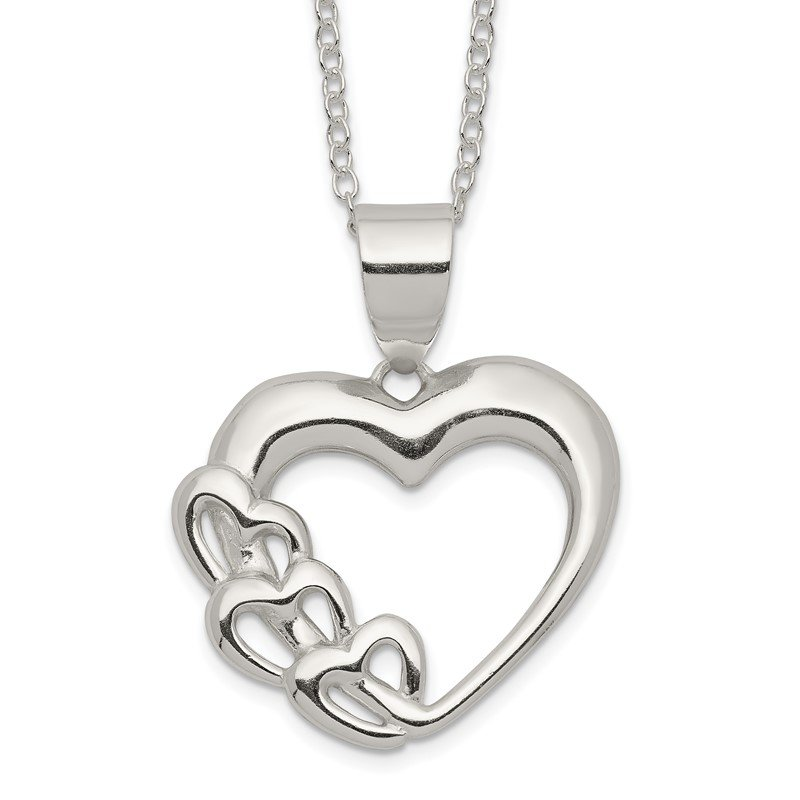 Quality Gold Sterling Silver Heart Necklace