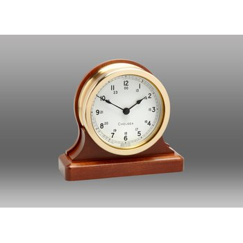 "3.5"" Voyager Clock on Cherry Base"