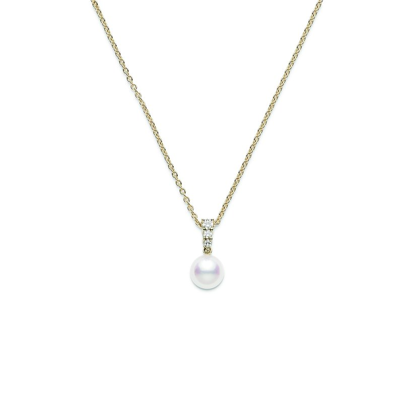 Haltoms fine jewelers mikimoto morning dew akoya cultured pearl mikimoto morning dew akoya cultured pearl pendant yellow gold aloadofball Images