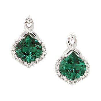 Emerald Earrings-CE3078WEM