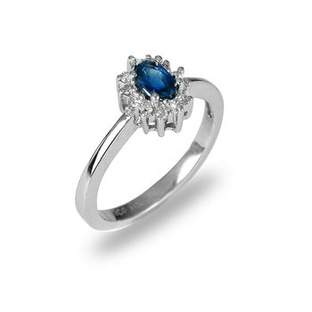 14K WG Sapphire and Diamond All Purpose Ring