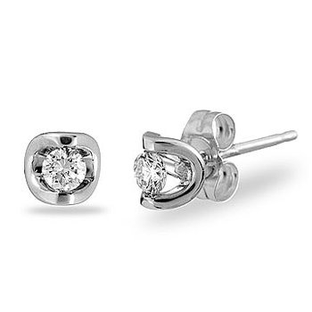 14K WG Diamond 'Moon Shine' Earring TDW 1.00 Cts