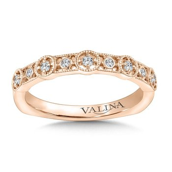 Stackable Wedding Band in 14K Rose Gold (.11 ct. tw.)