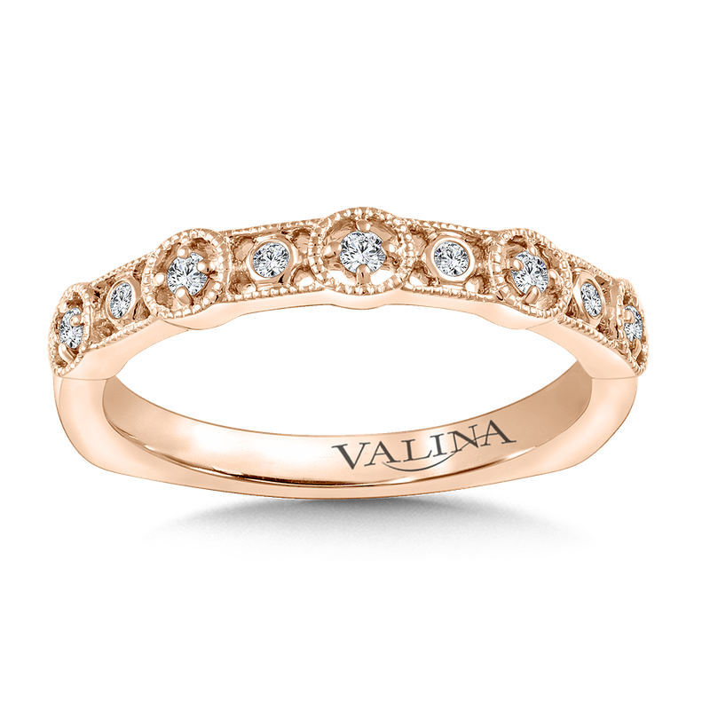 Valina Stackable Wedding Band in 14K Rose Gold (.11 ct. tw.)