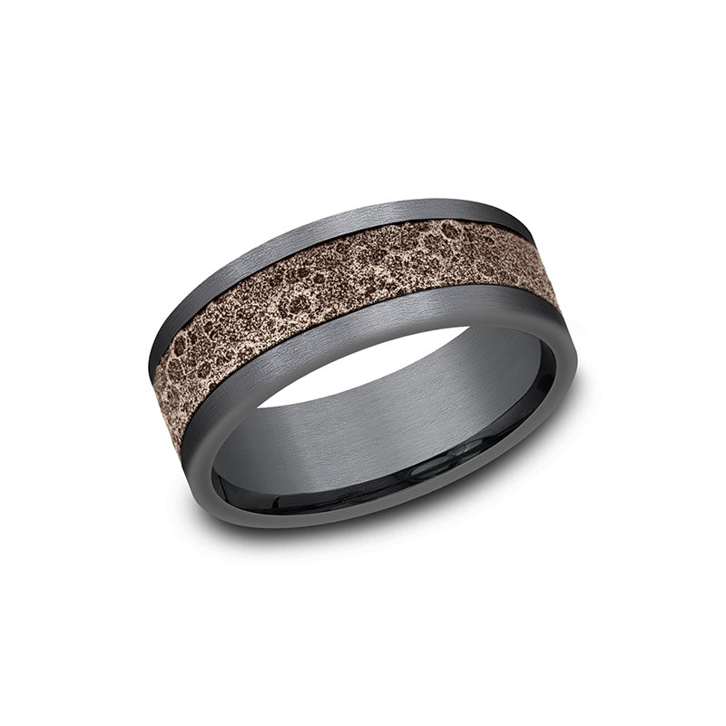 Ammara Stone Comfort-fit Design Wedding Band