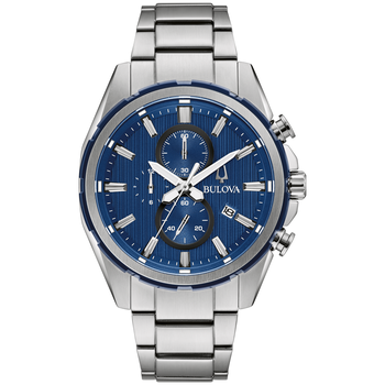 Bracelet Chronograph with Blue Dial