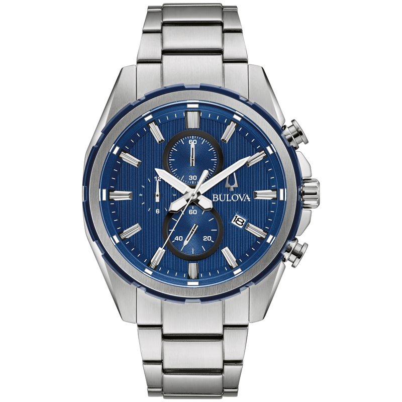 Bulova Bracelet Chronograph with Blue Dial