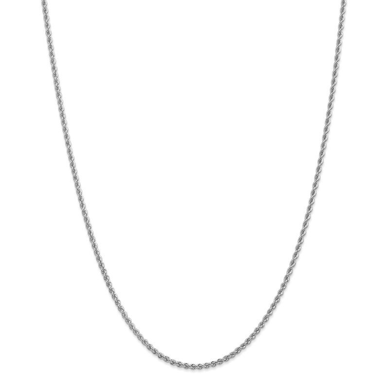 Quality Gold 14k WG 2.25mm Regular Rope Chain