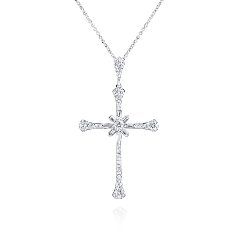 KC Designs 14K Diamond Cross Pendant