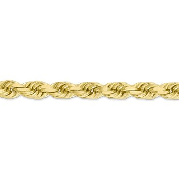 10k 8mm Diamond-cut Rope Chain
