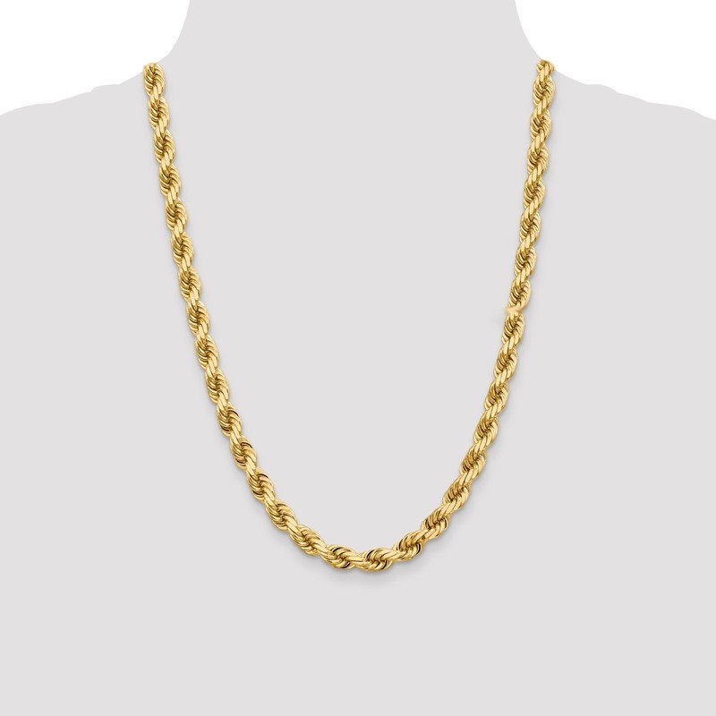 Quality Gold 10k 8mm Diamond-cut Rope Chain